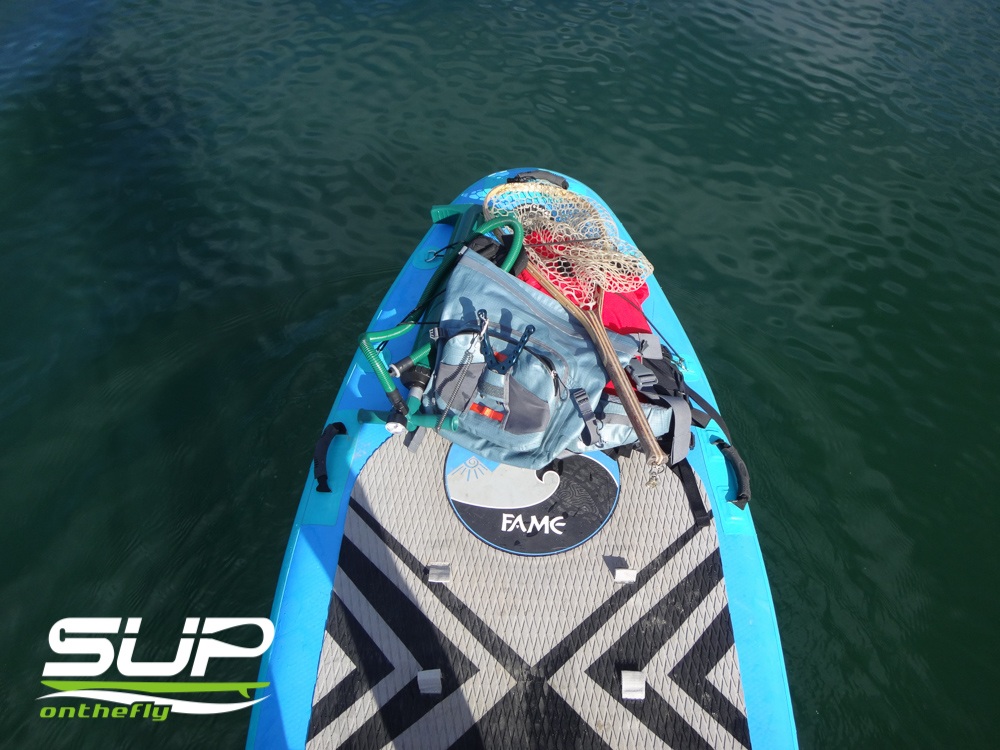 front of a SUP