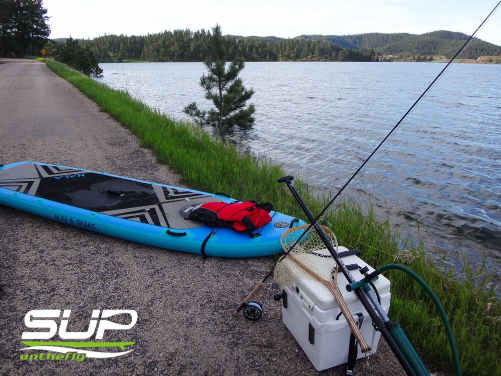 inflatable sup and rod