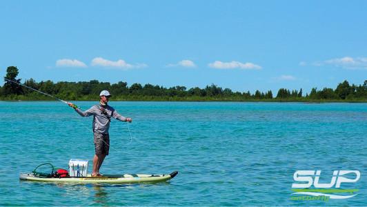 Sturgeon Bay Michigan Fishing On A Stand Up Paddle Board